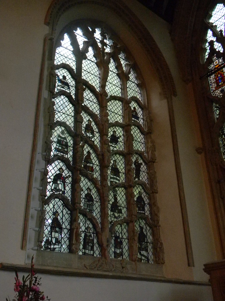 Jesse Window With little statues of Christ's ancestors. Dorchester Abbey. Appleford Circular
