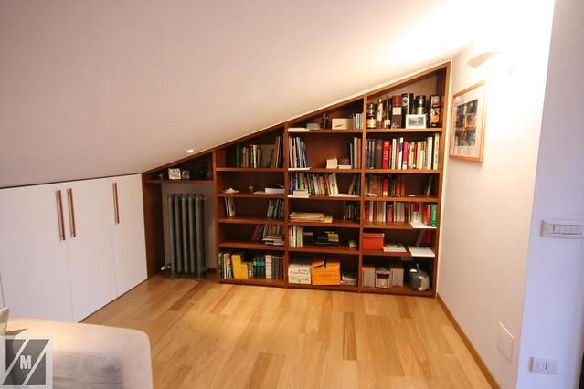 Libreria in ciliegio per mansarda  Flickr - Photo Sharing!