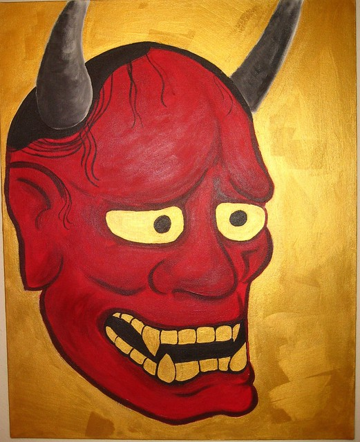 Japanese Oni Mask 24x30 REQUESTED Birthday Gift