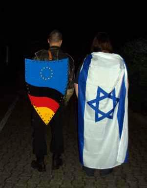 Some German-Jewish protestors in Brussels