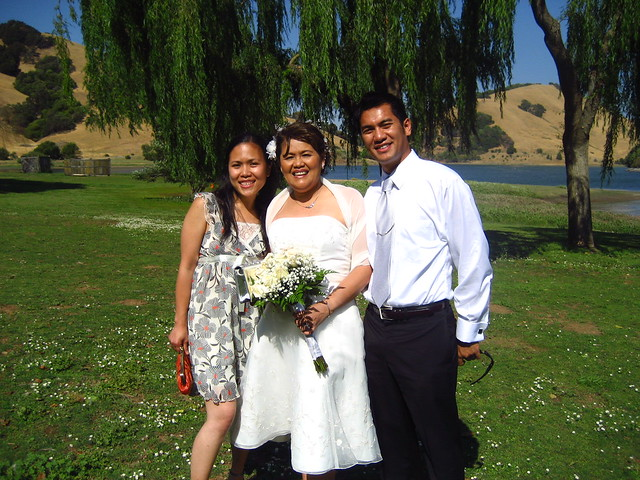 us with the radiant bride