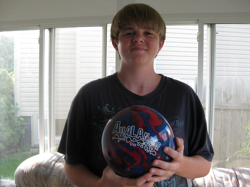 Lukas and his new bowling ball