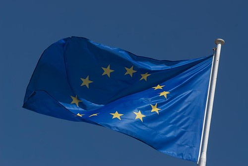 The emblem of Council of Europe: the European Flag