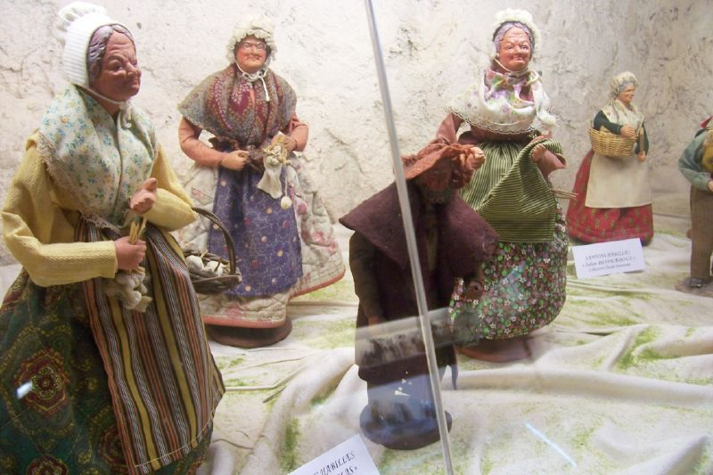 Santons at museum, Le Val, Provence