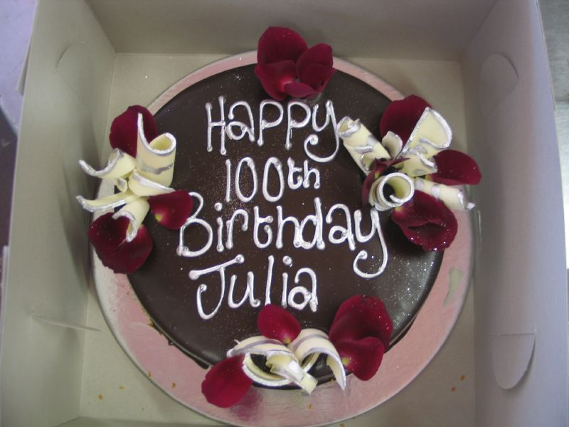 Julias 100th Birthday Cake A Photo On Flickriver