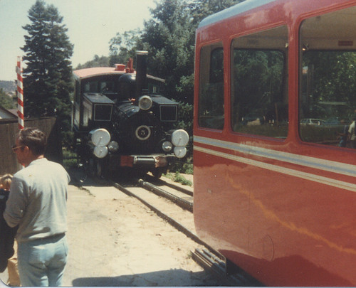 Preserved Manitou & Pikes Peak Cog Railway steam locomotive. Manitou Springs Colorado. July 1981. by Eddie from Chicago