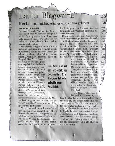 """""""Lauter Blogwarte"""""""