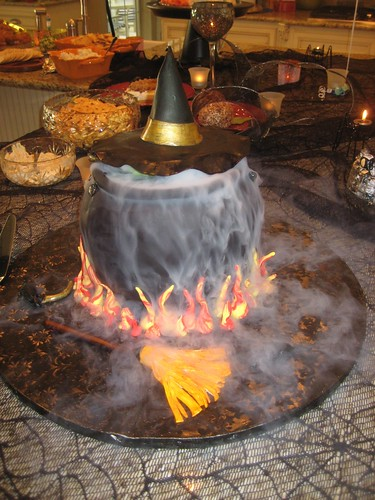 Flaming Witches Cauldron by Cake With an Edge