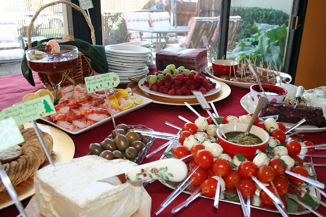 holiday party buffet table flickr photo sharing