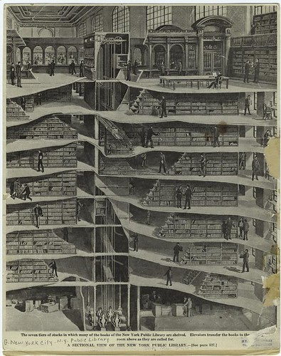 A sectional view of the New York Public Library. (1911)