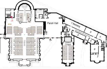 Ground Floor Plan St Mary S Cathedral Memphis Click