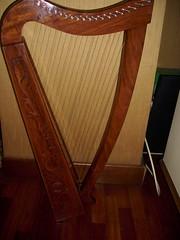 string instrument, clãrsach, wood, harp, hardwood, string instrument,