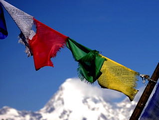prayer flags, Chele La