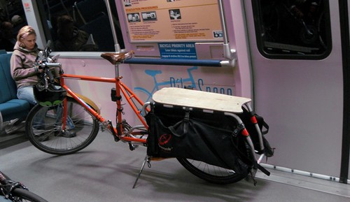 New BART car design allows long bikes to fit without blocking doors
