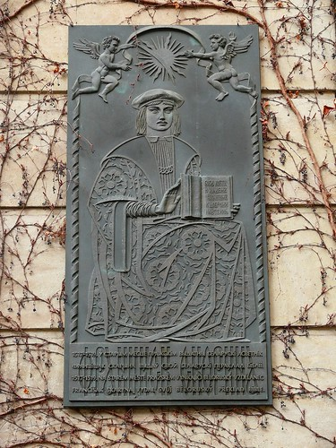 Plaque commemorating Francisak Skaryna of Polacak