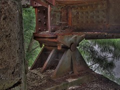 rusty bridge bearing