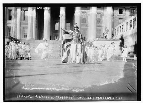 [Hedwig Reicher as Columbia] in Suffrage Pageant  (LOC)