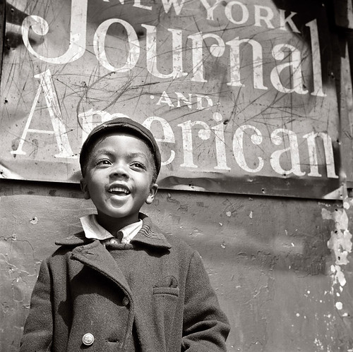 Harlem Newsboy [Gordon Parks]