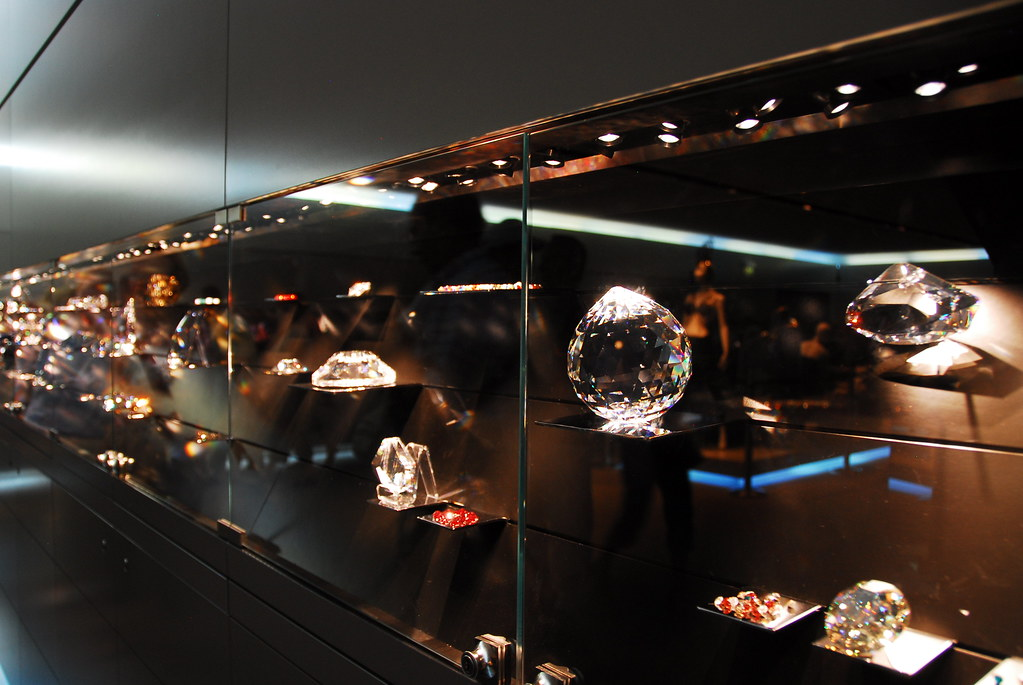 swarovski crystal rock display
