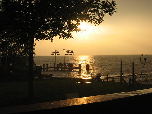 Sunset over Lake Poygan