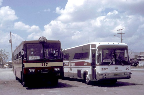 Philippine Rabbit Nissan (fleet No 417), UD Nissan CVK-944 (fleet No 2201) bus station (terminal), Tarlac Tarlac, Philippines.