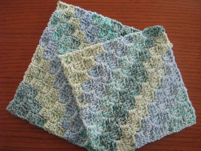 Free Crochet Pattern For Diagonal Dishcloth : CROCHET DISH RAG PATTERN Crochet Patterns