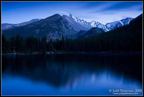 Longs Peak in Blue