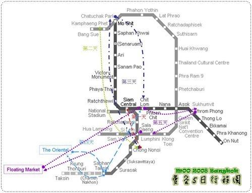 泰国曼谷地图全图