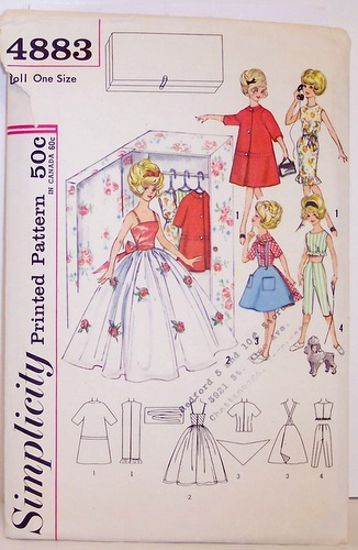 Free Printable Patterns for 1999 bellybutton Barbie doll