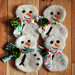 Needle Felted Snowman Ornaments