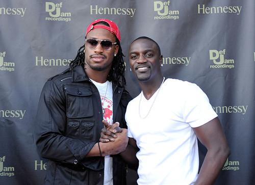 Vernon Davis and Akon