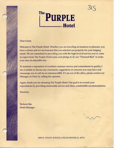 hotel welcome letter from general manager welcome letter