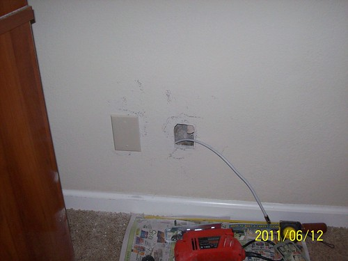 Inside walls cable fishing routing building - How to fish wire through exterior wall ...