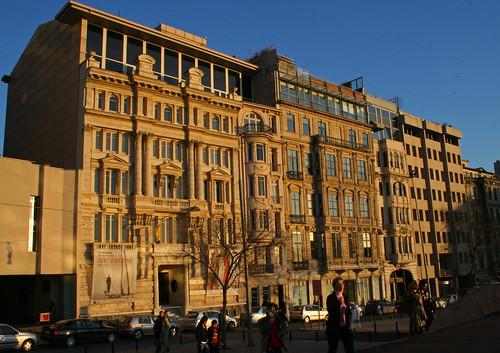 Buildings on Meşrutiyet Caddesi, Istanbul, including Pera Museum