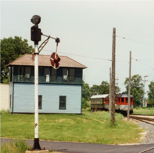 Preserved interlocking tower from Spaulding Illinois. The Illinois Railway Museum. Union Illinois. July 1996. by Eddie from Chicago
