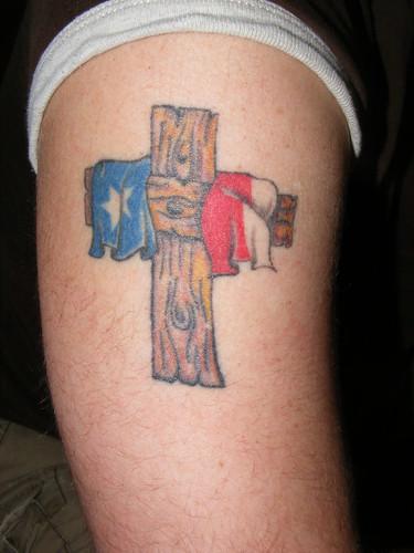 Texas flag tattoos tattoo lawas for Oklahoma flag tattoo