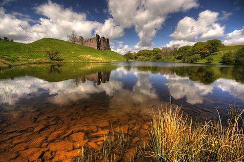Morton castle reflection