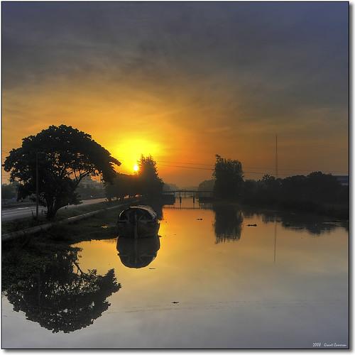 morning summer mist june sunrise thailand dawn early canal highway midsummer bangkok 21st calm solstice tranquil hdr calmness klong rangsit nakhonnayok themoulinrouge firstquality veniceoftheeast 7xp aplusphoto route305 grantthai grantcameron