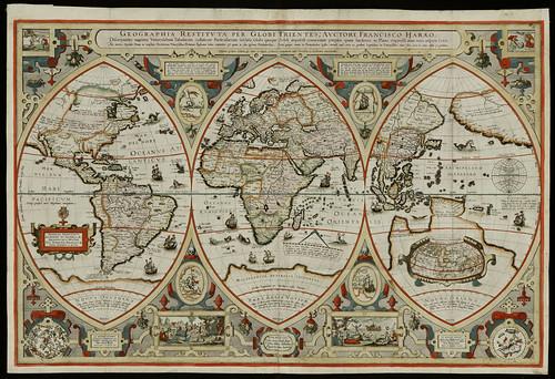 Geographica restituta per globi trientes