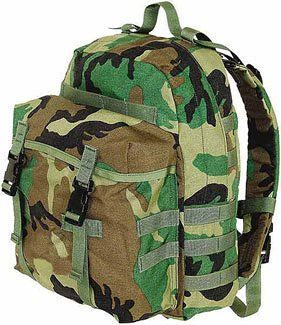 MOLLE II Patrol Pack, woodland camo (US ARMY)