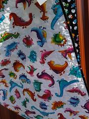 Back of dinosaur quilt