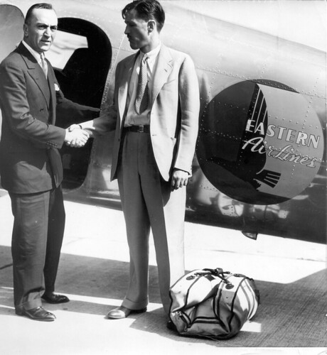 Eddie Rickenbacker with Eastern Air Lines pilot Paul Foster