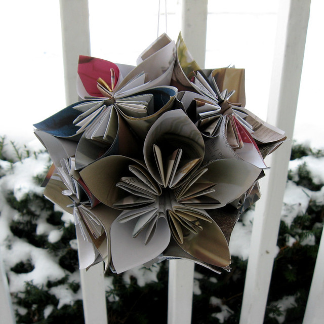 kusadama recycled ornament