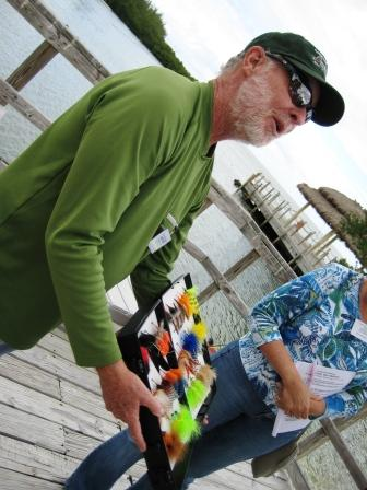 Sandy Moret of Florida Keys Outfitters, Shows Flies for Fly Fishing