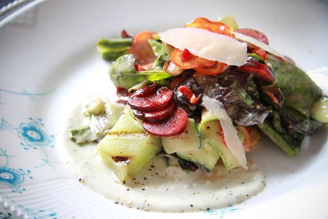 Grilled Heirloom Lettuce Salad