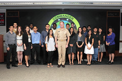PEARL HARBOR (June 17, 2011) Adm. Patrick Walsh, commander of U.S. Pacific Fleet and Pacific Fleet headquarters Student Temporary Employment Program (STEP) employees of for a group photo. Walsh met with the students to discuss the Pacific Fleet mission, and the value of work experience in the headquarters environment. (U.S. Navy photo by Mass Communication Specialists 2nd Class Patrick Murray)