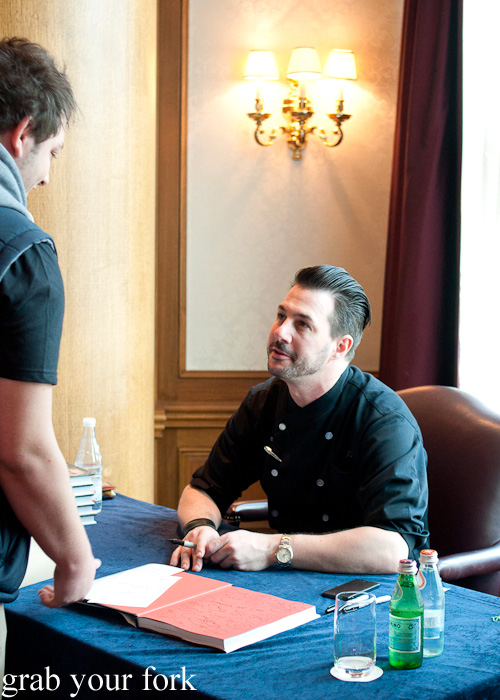 Johnny Iuzzini signing autographs at the Melbourne Food and Wine Festival 2014