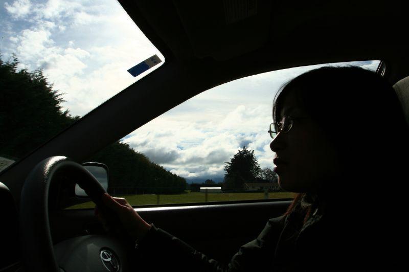 I'm drivng : ) !
