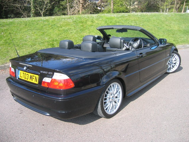 2003 bmw 330ci sport automatic convertible diamond black. Black Bedroom Furniture Sets. Home Design Ideas