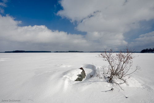 winter lake ice landscape places parikkala